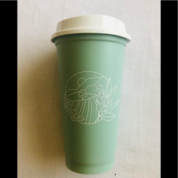STARBUCKS HOT/COLD CUP MINT GREEN 12 oz